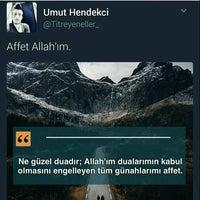 Photo taken at hamitler merkez camii by Hasan T. on 5/10/2017