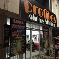 Photo taken at Profiles-soluciones publicitarias (malecon) by Pedro G. on 3/17/2015