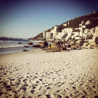 Photo taken at Clifton 2nd Beach by Ric R. on 1/11/2013