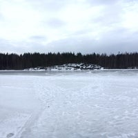 Photo taken at Озеро Окуневое by Daria I. on 3/24/2016