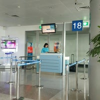 Photo taken at Gate 18 by Linh V. on 6/21/2016
