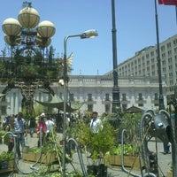 Photo taken at Santiago a Mil (Plaza de La Constitución) by Felipe I. on 1/16/2014