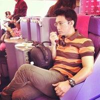 Photo taken at Thai Airways Flight TG 676 BKK-NRT by Pongraad W. on 4/6/2013