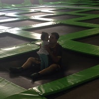 Photo taken at Jump Mania by Juliana M. on 8/18/2014