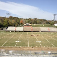 Photo taken at Clinton HS Football Field by Brad J. on 10/19/2012