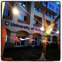 Photo taken at University of Wollongong in Dubai (UOWD) by Fariha O. on 3/14/2013