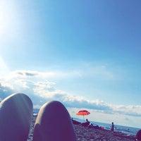 Photo taken at Atakum plaj by Çınar on 7/10/2016