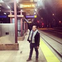 Photo taken at Prospect Park LRT Station by Eric J. on 12/2/2013