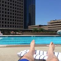 Photo taken at Hyatt Regency Houston Rooftop Pool by Eugene . on 5/15/2014