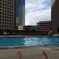 Photo taken at Hyatt Regency Houston Rooftop Pool by Eugene . on 5/11/2014