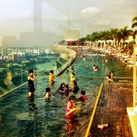 Photo taken at Rooftop Infinity Pool by Albert P. on 3/21/2013