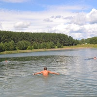 Photo taken at Лежнинское озеро by Андрей Р. on 7/8/2014