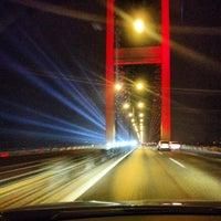 Photo taken at Bosphorus Bridge by Ali Ş. on 10/28/2013