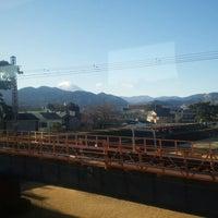 Photo taken at 小田急線 酒匂川橋梁 by Clara . on 1/3/2018