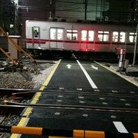 Photo taken at 東武伊勢崎線第38号踏切(竹ノ塚駅北側踏切) by Clara . on 1/20/2017