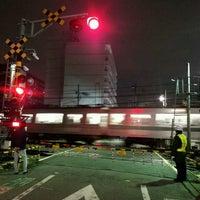 Photo taken at 東武伊勢崎線第38号踏切(竹ノ塚駅北側踏切) by Clara . on 11/30/2016