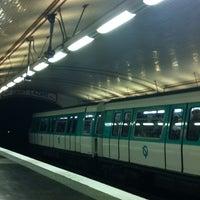 Photo taken at Métro Guy Moquet [13] by Katia P. on 12/23/2012