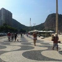 Photo taken at Calçadão do Leme by SELMA T. on 5/5/2013