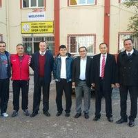 Photo taken at Ístanbul Spor Lisesi by Serdar Y. on 12/2/2015