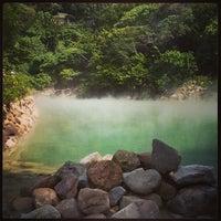 Das Foto wurde bei 地熱谷 Beitou Thermal Valley von Blue C. am 10/27/2013 aufgenommen