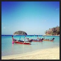 Photo taken at Kata Beach by Alba R. on 2/12/2013