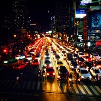 Photo taken at Asok Intersection by TATUM S. on 8/29/2014