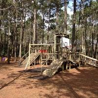 Photo taken at Parque de Santa Luzia by Carlos C. on 5/4/2014