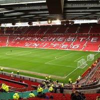 Photo taken at Old Trafford by Martin H. on 12/29/2012