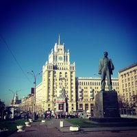 Photo taken at Triumfalnaya Square by Phil L. on 4/29/2013