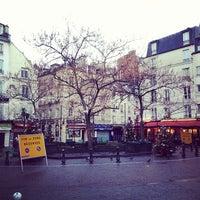 Photo taken at Place de la Contrescarpe by Thiago R. on 12/16/2012