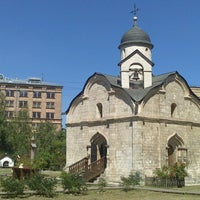 Photo taken at Храм св. мч. Трифона в Напрудном by Дмитрий К. on 7/19/2014