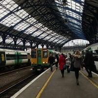 Photo taken at Brighton Railway Station (BTN) by Alex Y. on 2/28/2013