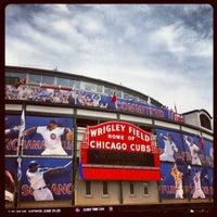 Photo taken at Wrigley Field by Allison C. on 6/23/2013