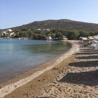 Photo taken at Agriolivadi beach by Klaus S. on 6/8/2018