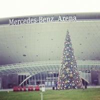 Photo taken at 梅赛德斯奔驰文化中心 Mercedes-Benz Arena by Hugo Z. on 12/8/2012
