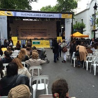Photo taken at Buenos Aires celebra Colombia by Nathan C. on 11/1/2014