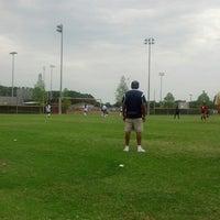 Photo taken at Buffalo Creek Soccer Fields by Mark W. on 4/20/2013