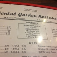 photo taken at oriental gardens by isaac a w on 8172013 - Oriental Garden Menu