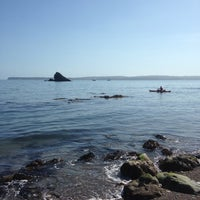 Photo taken at Meadfoot Beach by Tibor K. on 4/18/2014