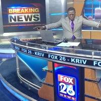 Photo taken at FOX 26 (KRIV-TV) by Isiah C. on 9/18/2016
