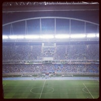 Photo taken at Olympic Stadium (Engenhão) by Alexandre L. on 10/17/2012