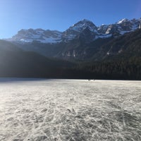 Photo taken at Lago di Tovel by Alessandro D. on 12/30/2016