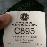 ... Photo taken at NYS DMV - Midtown Office by Rashad R. on 5/21 ...