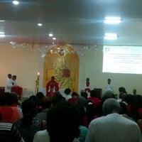 Photo taken at Paróquia Cristo Libertador, Rei do Universo by Tbieelsoares #. on 6/8/2014
