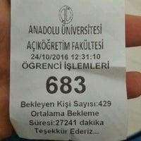 Photo taken at Anadolu Üniversitesi Açıköğretim Fakültesi Bürosu by Sunay Ö. on 10/24/2016