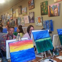 Photo taken at Sipping N' Painting by Thuy D. on 4/2/2014
