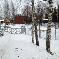 Photo taken at Koivikkopuiston leikkialue by Hannele A. on 3/20/2014