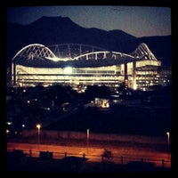 Photo taken at Olympic Stadium (Engenhão) by marcos t. on 10/6/2012