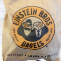Photo taken at Einstein Bros Bagels by Stacey M. on 10/21/2013