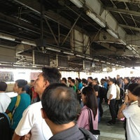 Photo taken at Yellow Line - Araneta Center-Cubao Station by Rhyian E. on 2/8/2013